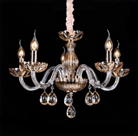 Chandelier 5 lights lamp clear